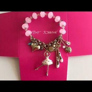 Betsey Johnson BALLERINA Charm Bracelet NWT
